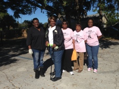 The ladies of the Lambda Omicron Omega chapter of Alpha Kappa Alpha, Inc. served tirelessly throughout the day.